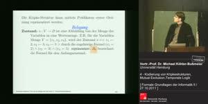 Miniaturansicht - 4 - Kodierung von Kripkestrukturen, Mutual Exclusion, Temporale Logik