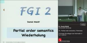 Miniaturansicht - 10 - Partial order semantics / Petrinetze