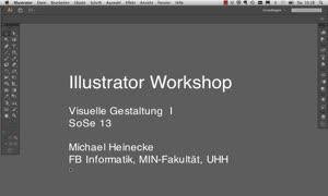 Miniaturansicht - Illustrator Workshop