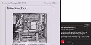 Miniaturansicht - 20 - Strahlverfolgung, Strahlungsberechnung, Nicht-Fotorealistische Computergrafik