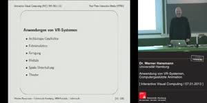 Miniaturansicht - 24 - Anwendung von VR-Systemen, Computergestützte Animation
