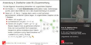 Miniaturansicht - 6 - Bi- und Tri-Zusammenhangskomponenten, Planarität, DAGs, SCCs
