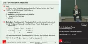 Miniaturansicht - 10 - Algorithmen in Flussnetzwerken