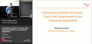 Miniaturansicht - 2 - A grammar checker for Czech