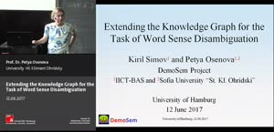 Miniaturansicht - 7 - Extending the Knowledge Graph for the Task of Sense Disambiguation