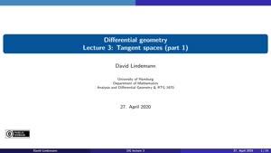 Miniaturansicht - Lecture 3: Tangent spaces (part 1)
