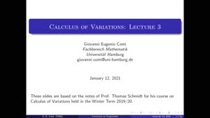 Miniaturansicht - Calculus of Variations: Lecture 3