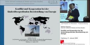 Miniaturansicht - Konflikt und Kooperation bei der länderübergreifenden Bereitstellung von Energie