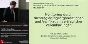Miniaturansicht - Monitoring durch Nichtregierungsorganisationen (NGOs) und Verifikation vertraglicher Vereinbarungen
