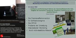 Vorschaubild - Verifikation und Monitoring im Rahmen der Chemiewaffenkontrolle: Ziele, Aufgaben der Konvention, Umsetzung, Compliance, staatliche und nicht-staatliche Akteure