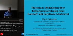Miniaturansicht - Plutonium: Reflexionen über Entsorgungsstrategien eines Rohstoffs mit negativem Marktwert