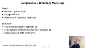 Miniaturansicht - homology modelling part 1 of 4