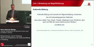 Miniaturansicht - RVL Lernort Hamburg: Stand und Perspektiven der Kulturvermittlung in Hamburg