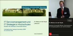 Miniaturansicht - IT Service Management und IT-Strategie in Hochschulen – Situation der Bauhaus-Universität Weimar