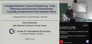 Miniaturansicht - Linkages between Financial Deepening, Trade Openness, and Economic Development