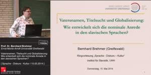 Miniaturansicht - Vatersnamen, Titelsucht und Globalisierung: Wie entwickelt sich die nominale Anrede in den slavischen Sprachen?