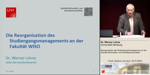 Miniaturansicht - Reorganisation des Studiengangsmanagements an der Fakultät Wirtschafts- und Sozialwissenschaften
