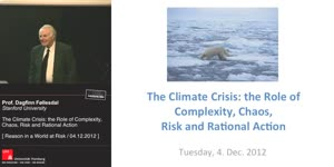 Miniaturansicht - The Climate Crisis: the Role of Complexity, Chaos, Risk and Rational Action