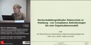Thumbnail - Hochschulübergreifender Datenschutz am Standort Hamburg – Von Compliance- Anforderungen bis zum Organisationsmodell