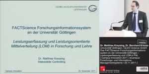 Miniaturansicht - Leistungserfassung und leistungsorientierte Mittelverteilung (LOM) in Forschung und Lehre