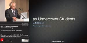 Miniaturansicht - As Undercover Students in MOOCs