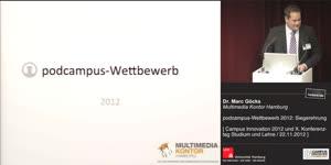 Miniaturansicht - podcampus-Wettbewerb 2012: Siegerehrung