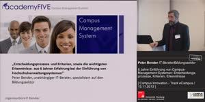 Vorschaubild - 6 Jahre Einführung von Campus-Management-Systemen: Entscheidungsprozesse, Kriterien, Erkenntnisse