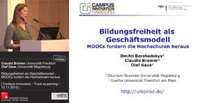 Miniaturansicht - Bildungsfreiheit als Geschäftsmodell - MOOCs fordern die Hochschulen heraus