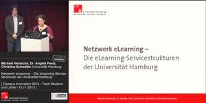 Thumbnail - Netzwerk eLearning – die eLearning-Service-Strukturen der Universität Hamburg