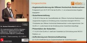 Miniaturansicht - Die niedersächsische MOOCs-Strategie – Ideen für ein niedersächsisches Mooc prOduktions-, Organisations- und CommunikationsSystem (ndsMOOCS)