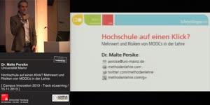 Miniaturansicht - Hochschule auf einen Klick? Mehrwert und Risiken von MOOCs in der Lehre.