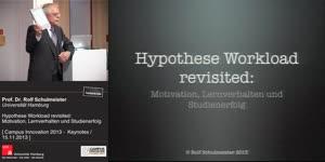 Vorschaubild - Hypothese Workload revisited: Motivation, Lernverhalten und Studienerfolg