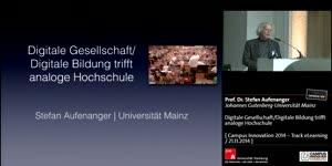 Miniaturansicht - Digitale Gesellschaft/Digitale Bildung trifft analoge Hochschule