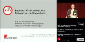 Miniaturansicht - Big Data, IT-Sicherheit und Datenschutz in Hochschulen