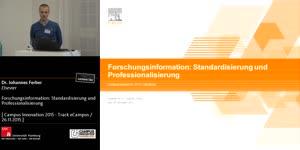 Miniaturansicht - Forschungsinformation: Standardisierung und Professionalisierung