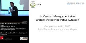 Miniaturansicht - Ist Campus-Management eine strategische oder operative Aufgabe?