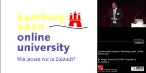 """Miniaturansicht - Gemeinsame Keynote """"Hamburg Open Online University"""""""