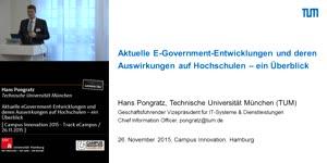 Miniaturansicht - Aktuelle eGovernment-Entwicklungen und deren Auswirkungen auf Hochschulen – ein Überblick