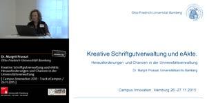 Miniaturansicht - Kreative Schriftgutverwaltung und eAkte. Herausforderungen und Chancen in der Universitätsverwaltung