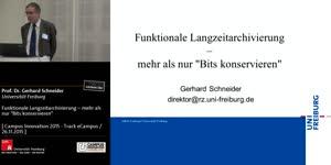"""Miniaturansicht - Funktionale Langzeitarchivierung – mehr als nur """"Bits konservieren"""""""
