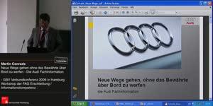 Thumbnail - Martin Conrads: Neue Wege gehen ohne das Bewährte über Bord zu werfen - Die Audi-Fachinformation