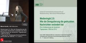 Thumbnail - Medienlogik 2.0: Wie die Deregulierung die gedruckten Nachrichten verändert hat. Eine Inhaltsanalyse der deutschen Tagespresse (1984 bis 2014)