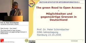 Thumbnail - The Green Road to Open Access