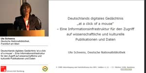 Thumbnail - Deutschlands digitales Gedächtnis at a click of a mouse