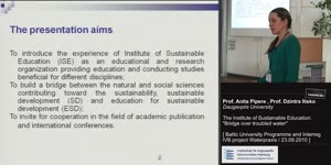 Thumbnail - The Institute of Substainable Education: