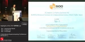Miniaturansicht - Awarding of the 37th TOP500 List