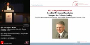 Miniaturansicht - Tuesday Keynote: How the IT/Internet Revolution Changes the Chinese Society
