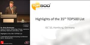 Miniaturansicht - Highlights of the 35th TOP500 List