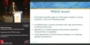 Miniaturansicht - Awarding of the PRACE Award