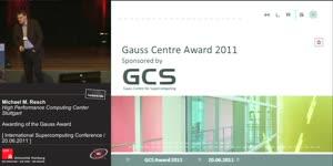 Miniaturansicht - Awarding of the Gauss Award